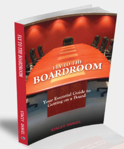Fly to the Boardroom 3D book graphic