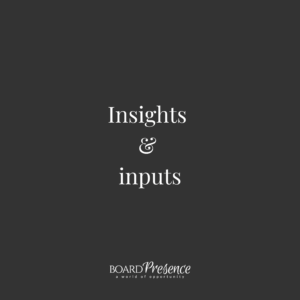 Insights & inputs